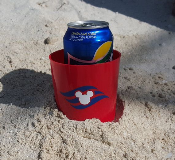 Disney Cruise Beach Cup Holder with DCL Logo - Beachnik - FE - Fish Extender Gift