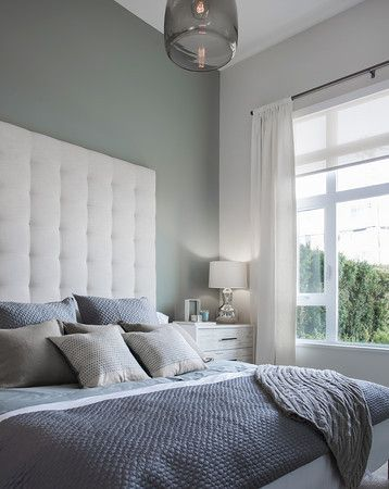 Master with Over sized Tufted headboard
