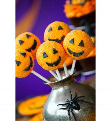 Gâteau d'Halloween : les pop cakes citrouille
