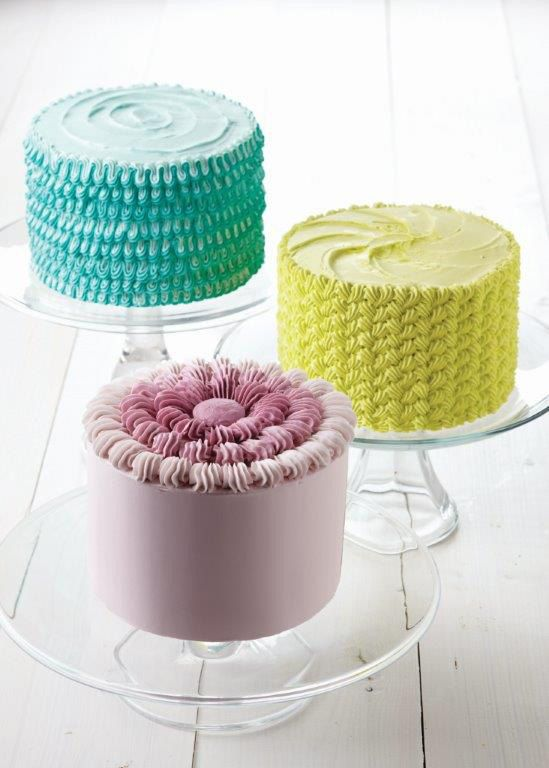 Advanced Cake Decorating Techniques Pinterest : Learn how to make these fun decorating techniques with buttercream in the new Wilton Method ...