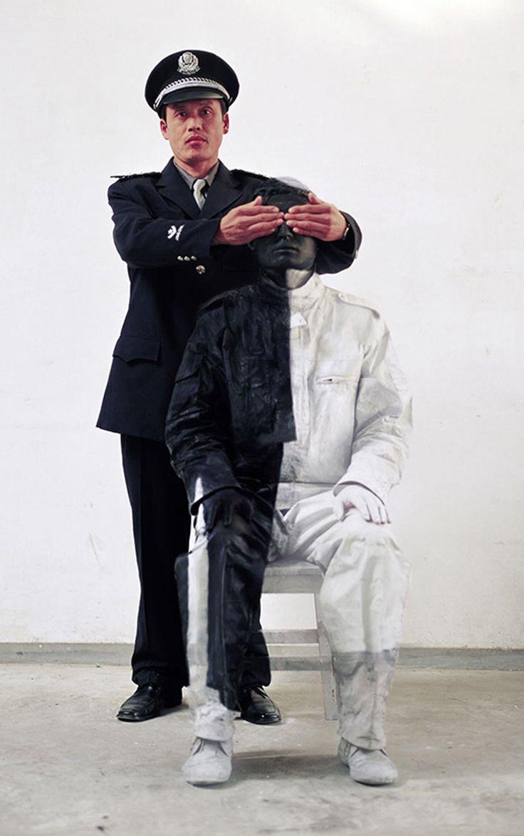 Liu Bolin - The People's Police (2006) Art Experience:NYC http://www.artexperiencenyc.com/social_login