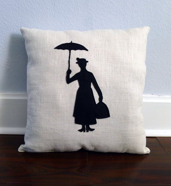 Hey, I found this really awesome Etsy listing at https://www.etsy.com/listing/113441283/mary-poppins-silhouette-pillow-free