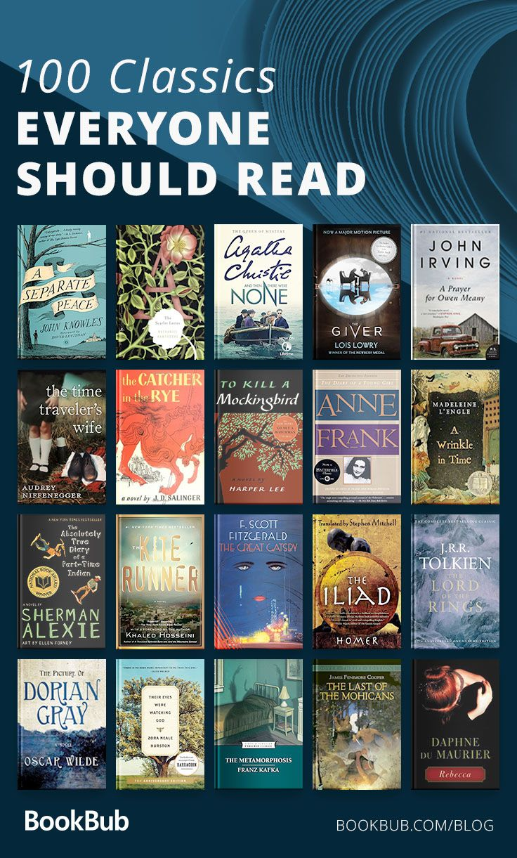 Reading Challenge 100 Classics To Read In A Lifetime With Images