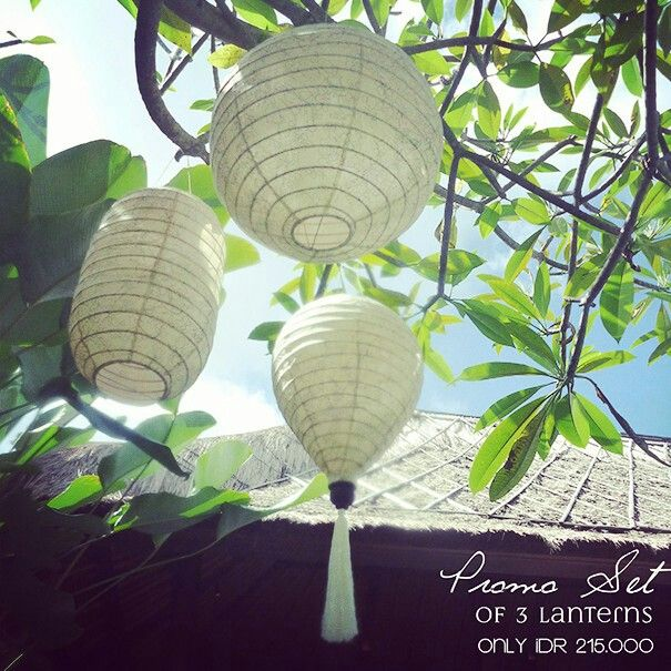 Cotton lanterns from www.pelopeshop.blogspot.com