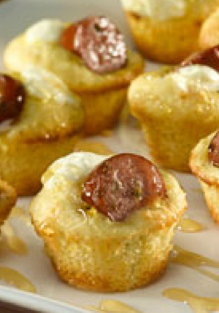 Mini Jalapeño Cornbread Poppers  w/ smoked sausage– These four-ingredient Mini Jalapeño Cornbread Poppers will be a appetizer favorite at your game day get-together!