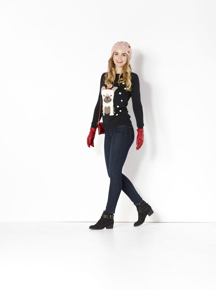 Wrap up a smile. For the woman who loves to laugh, surprise her with a super cute 'Ugly' Christmas Sweater — available in a wide choice of styles. It's a perfect gift on its own or with flattering jeans and fun accessories.
