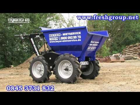 Muck Truck Max Dumper Truck. The Max Dumper is  also used by landscapers, builders and tree surgeons. The Max Dumper Power Barrow will shift wood, turf and building materials like soil, gravel, sand and paving slabs. For more info please check us out at: http://www.fresh-group.com/max-dumper.html