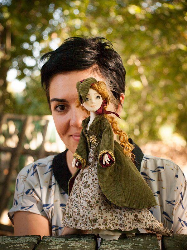 Irene Forsyte & me Handmade textile doll by Romantic Wonders www.rwdolls.com