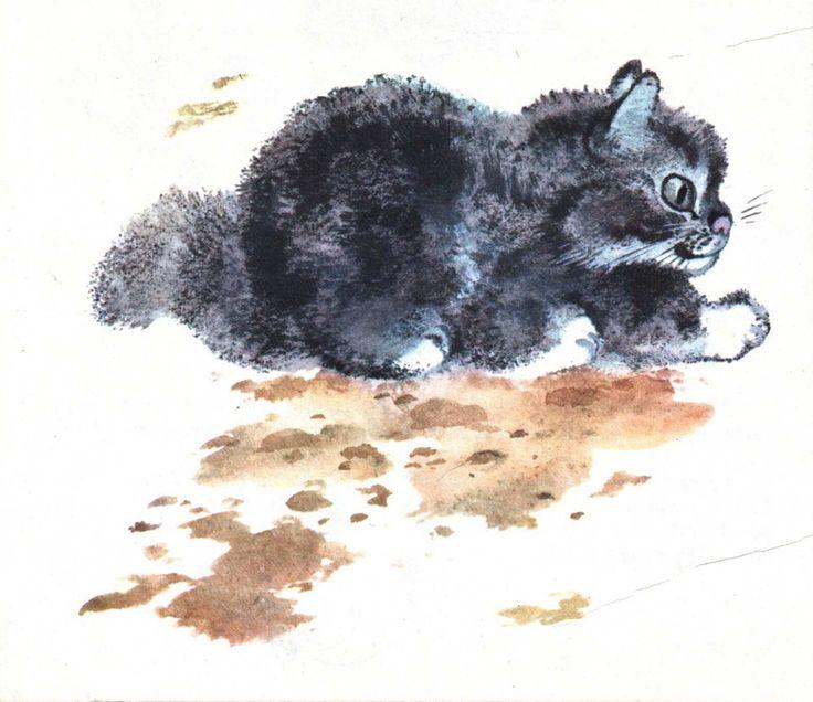 евгений чарушин рисунки животных холсте фотосовмещением репродукции