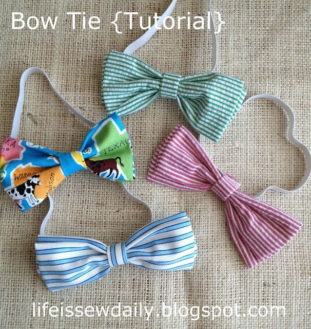 Bow Ties for Baby & Toddler {Tutorial} - Easy! Takes about 10 minutes to make!