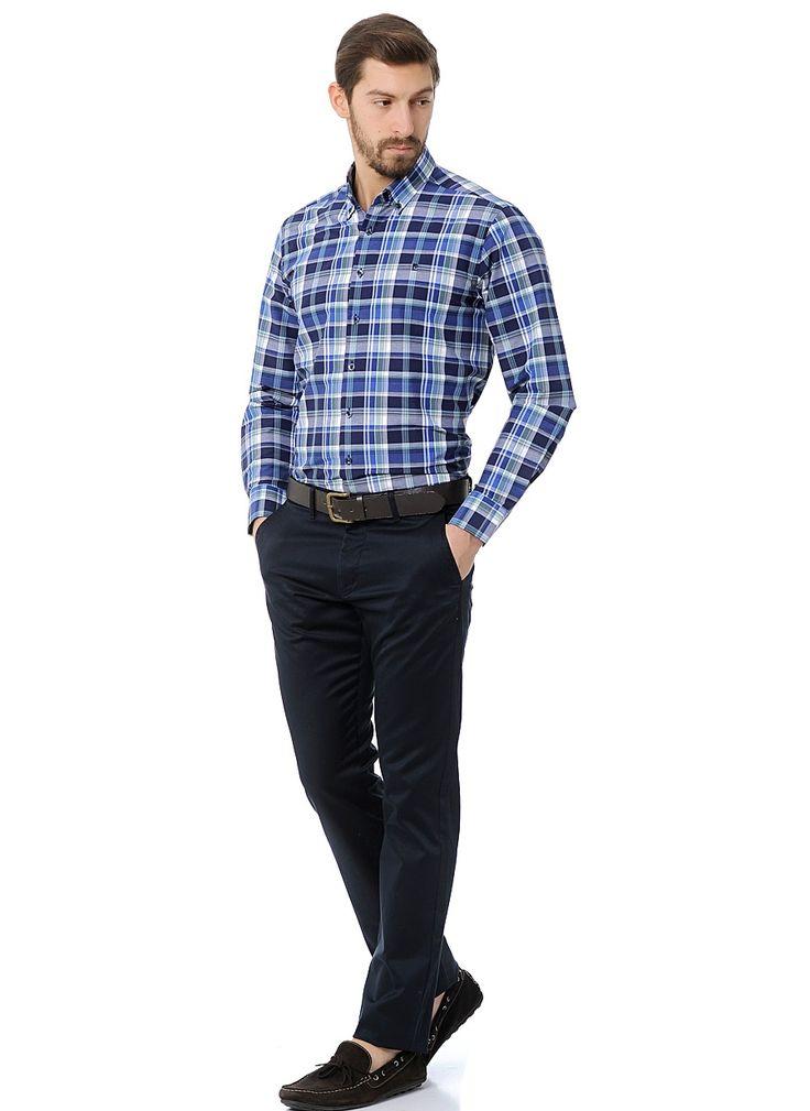 Темно-синие брюки (casual)