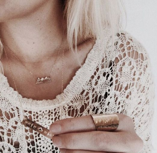 Mini mountains necklace   Mint Jewelry Co.