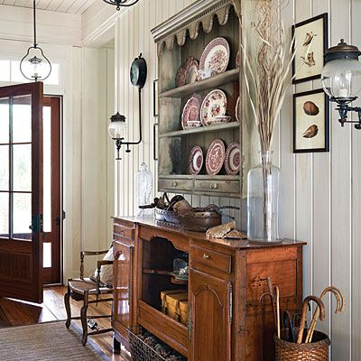 Excellent Wood Plank Ceiling And Walls Country Entryway Rustic Southern  Living Magazine With Country Living Magazine House Plans