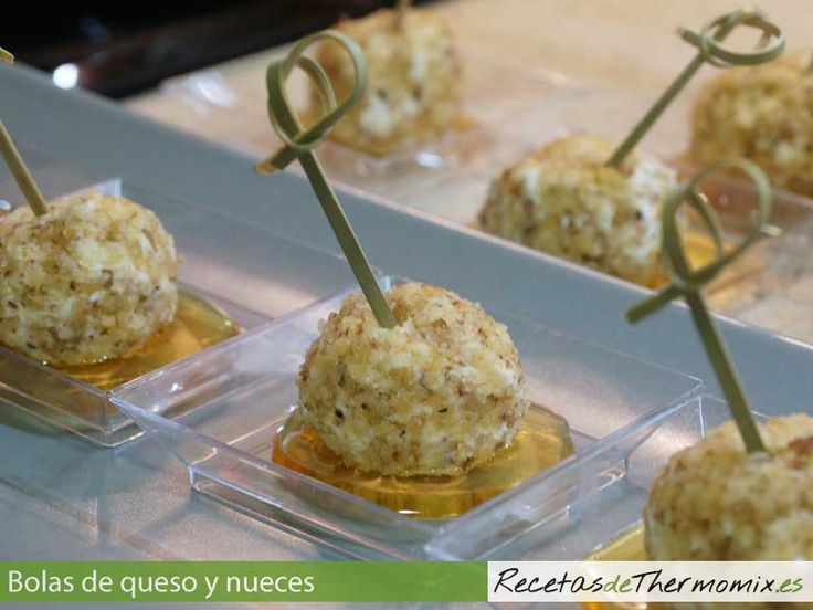 Bolas de queso y nueces con Thermomix