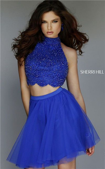 Sherri Hill 32280 Two Piece Royal Beading Short Homecoming Dresses Cheap [Sherri Hill 32280 Royal] - $238.00 : Cheap Homecoming Dresses 2015,Prom Dresses & Cocktail Dresses Online Sale!