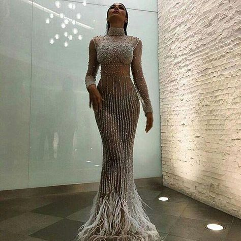 Evening dress Yousef aljasmi Kim kardashian Long dress Long