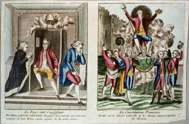 Le tiers état confesseur La constitution Française, 1791