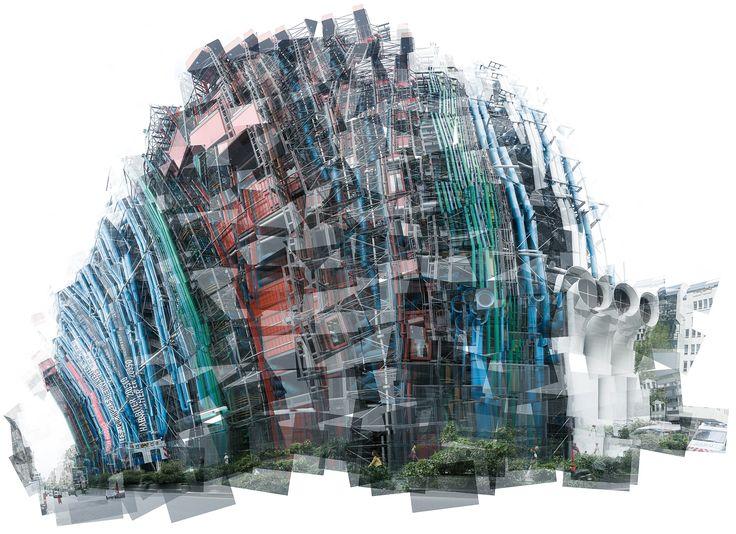 Panografie / Panography / Mareen Fischinger Fotografie - Centre Pompidou - Richard Rogers + Renzo Piano