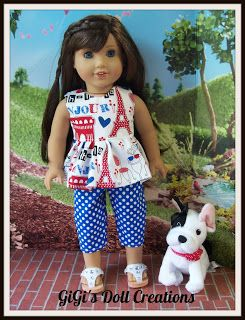 GiGi's Doll and Craft Creations: New Paris Doll Clothes for American Girl Doll Grace or other 18 inch dolls.