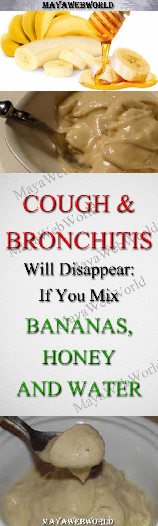 Mix Bananas, Honey and Water: Cough and Bronchitis Will Disappear – MayaWebWorld