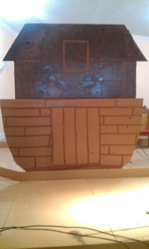 I did this for a play at church for Noah's ark. It was quick and inexpensive