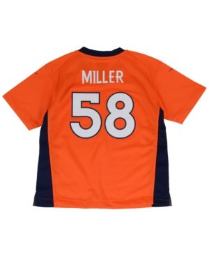 Nike Little Boys' Von Miller Denver Broncos Game Jersey  - Orange 5/6