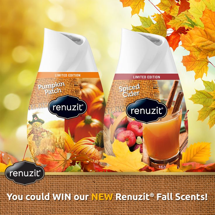 """Renuzit® Scents of Autumn""   Enter for your chance to #win NEW Renuzit® Fall scents! 1 winner daily. Enter today!"