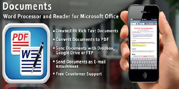 Look no further if you have been searching for a document editing and management suite for your handheld device because Document Writer has arrived. For both your iPad and iPhone, Document Writer empowers you to do a lot from your handheld device http://j.mp/DWPMS