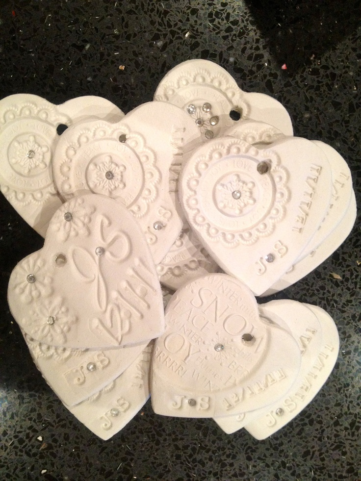 Customized Favor Gift Ornament  White clay by MademoiselleAdriana,