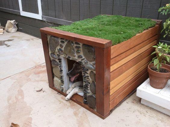 Homemade dog house | Dog houses! | Pinterest | Homemade Dog House ...