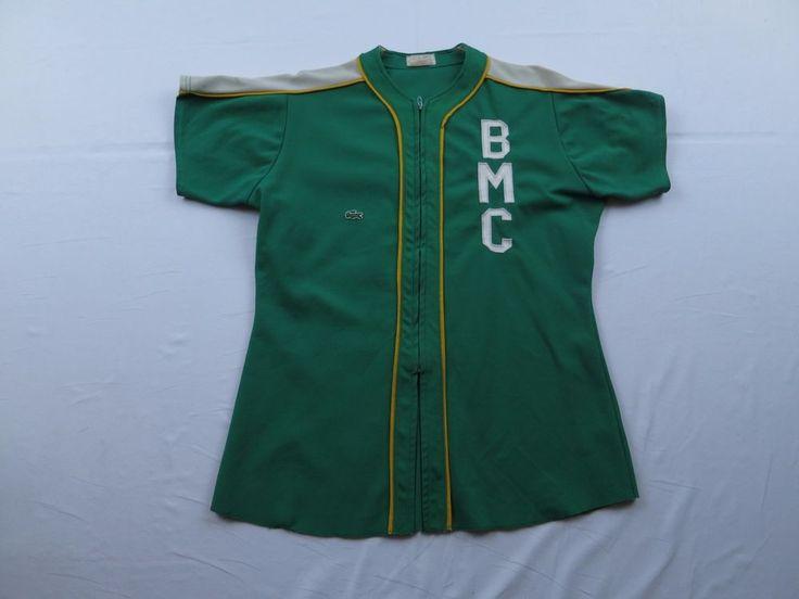 Lacoste BMC Alligator Gator Green Softball Jersey