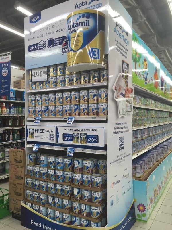 New Aptamil Supermarket Gondola Display