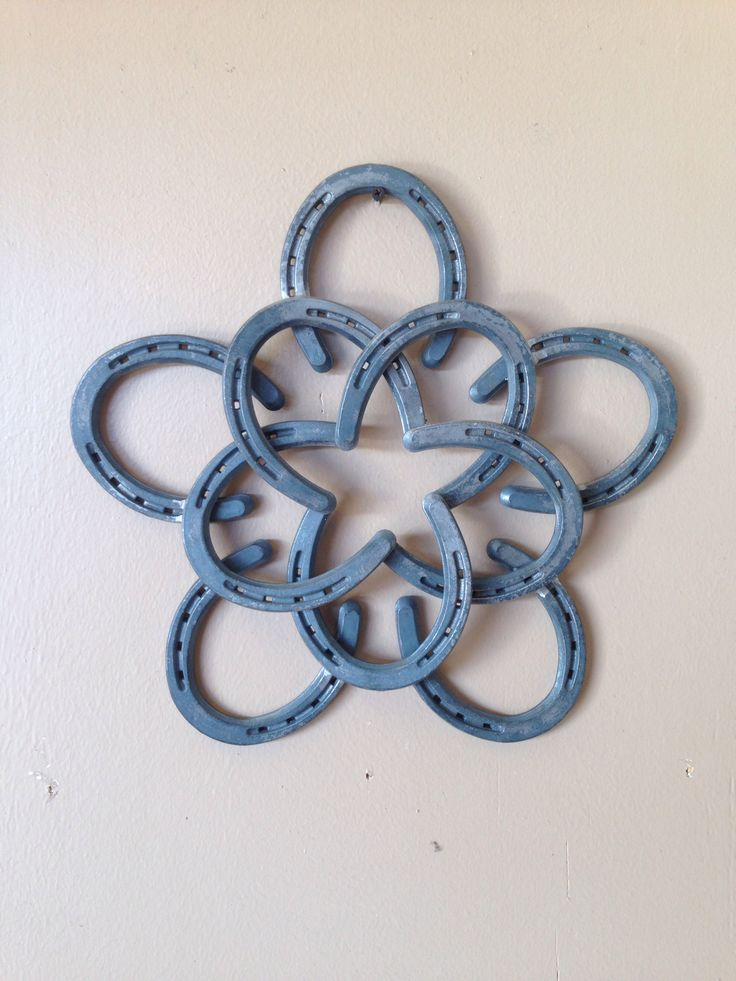 "Horseshoe star wall hanger  15"" x 15""  $50"