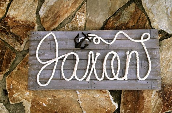 Nautical Name Signs by ROPE & STYLE combines meticulous craftsmanship with detailed artistry and your custom personalization to give you a