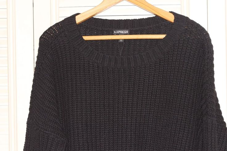 Womens Express Boat Neck Sweater Black Size Large NWT #Express #BoatNeck #Work