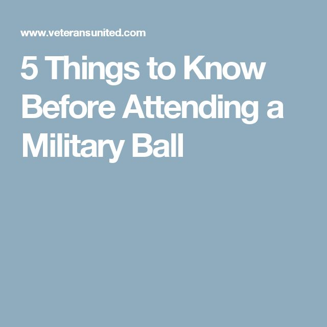 5 Things to Know Before Attending a Military Ball
