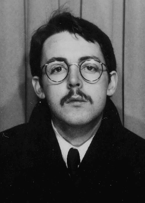 Paul With Glasses And Moustache In