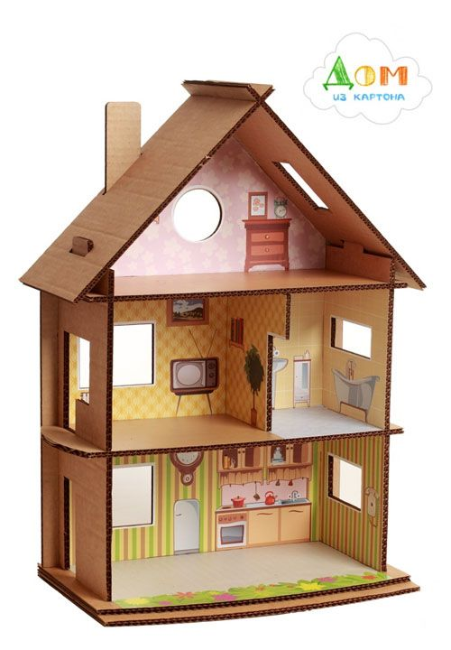 25 best ideas about cardboard dollhouse on pinterest cardboard kids house doll house people. Black Bedroom Furniture Sets. Home Design Ideas