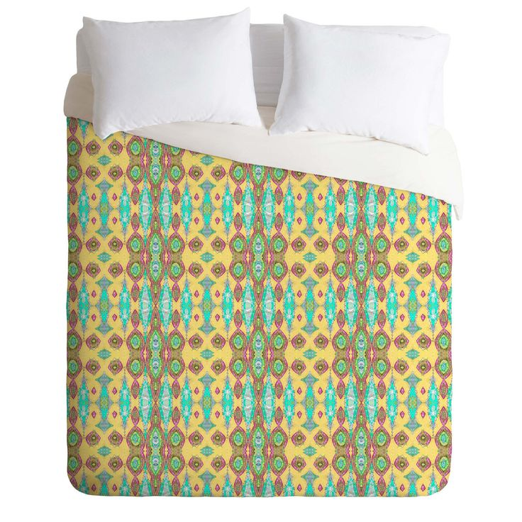 Ingrid Padilla Ornate Yellow Duvet Cover | DENY Designs Home Accessories