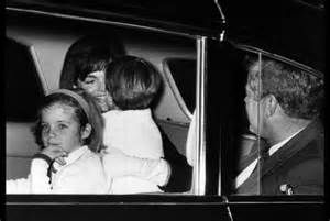 When Jackie returned to DC from Greece, JFK and the kids went to meet her at the airport. In the car, she was tickling John jr. making him laugh hysterically. Caroline told her that wasn't a good idea because John jr. just drank a Coke.