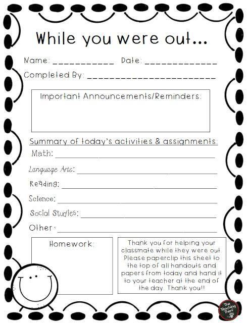 Student-Led Absent Work Forms {freebie}                                                                                                                                                     More