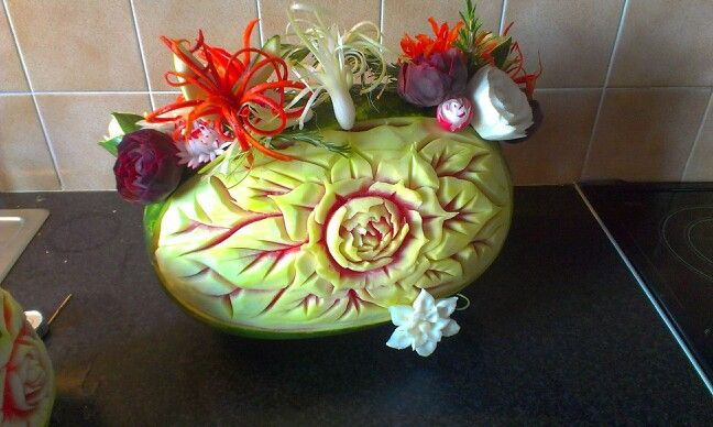 Back of water melon...easy carving