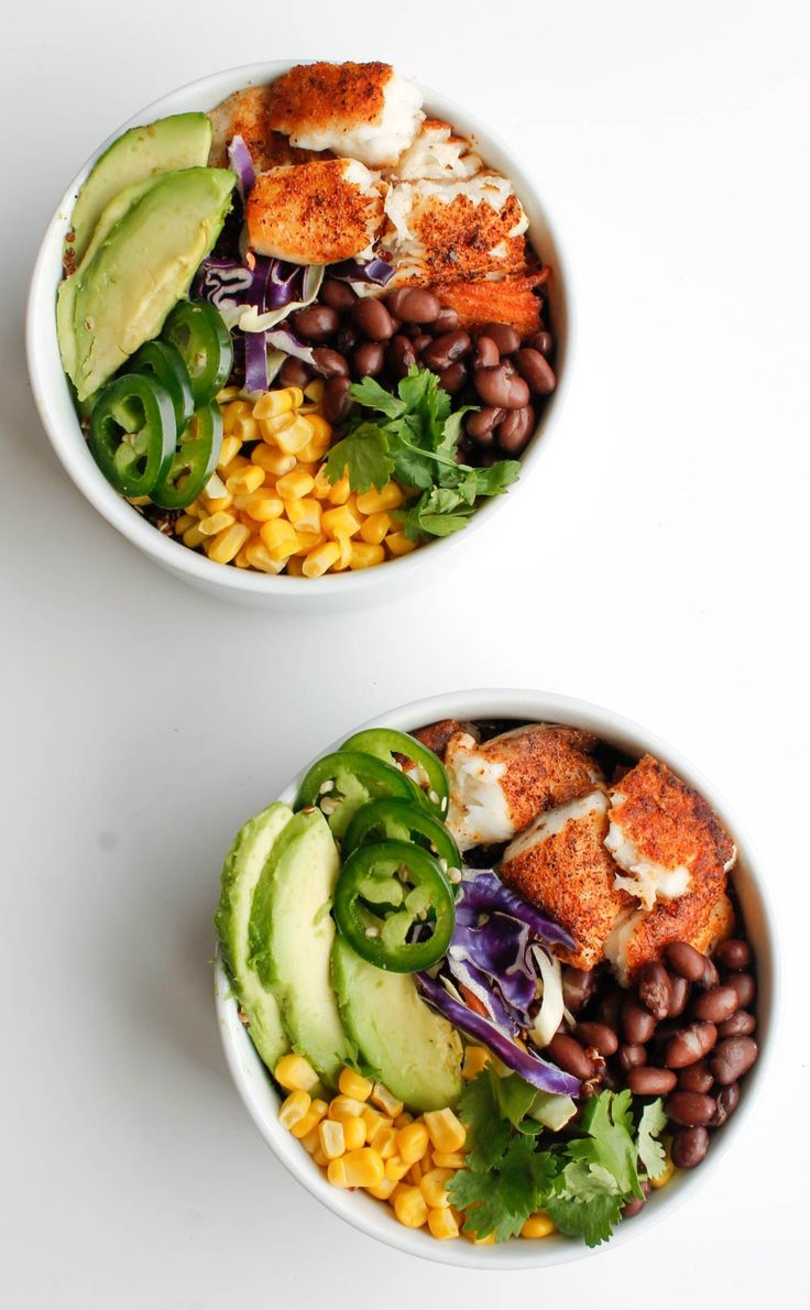Easy Quinoa Fish Taco Bowls | Recipe | Fish taco bowls, Meal prep recipes and Tilapia