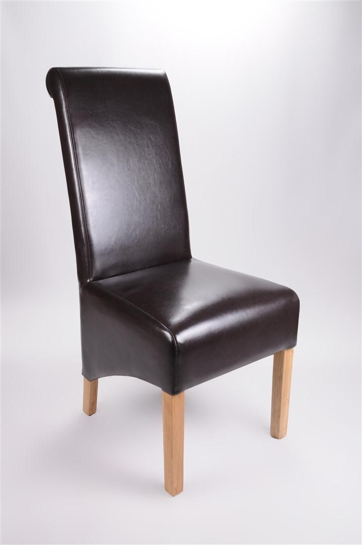 Rollback Leather Chair in Brown