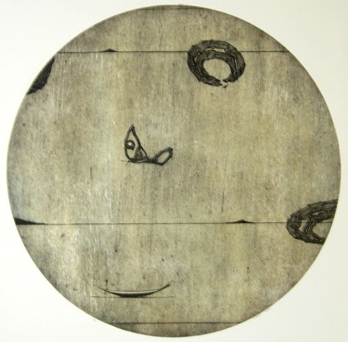 Simon Kaan, <i>Untitled (Circle I)</i>, Intaglio Woodcut on 710 x 645 mm paper, from an edition of 12, 2010. NZ$1365 incl GST.