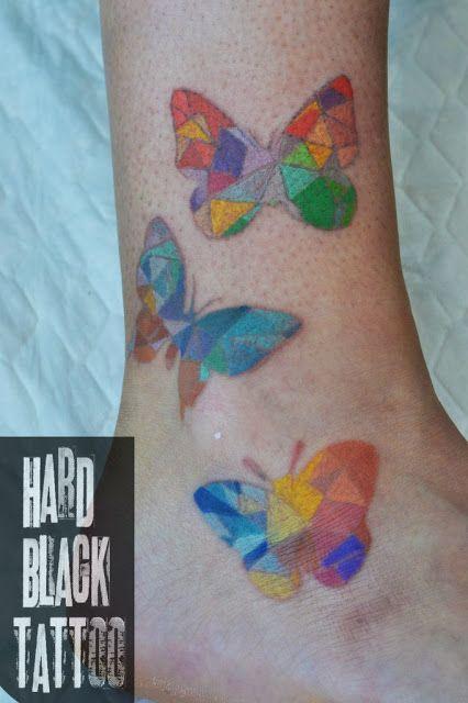 Мои бабочки в виде татуировки