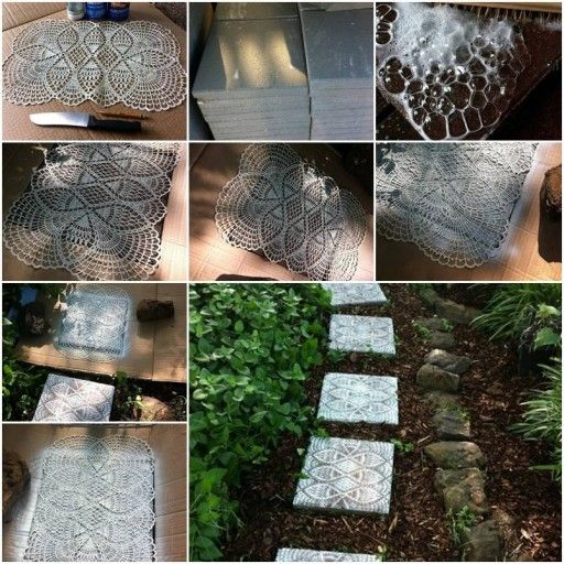 Stepping stone walkway my home pinterest - Stepping stones for walkways ...