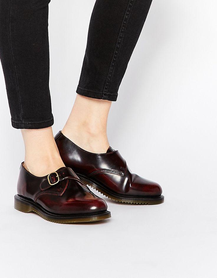 Dr+Martens+Kensington+Lorne+Cherry+Red+Monk+Flat+Shoes