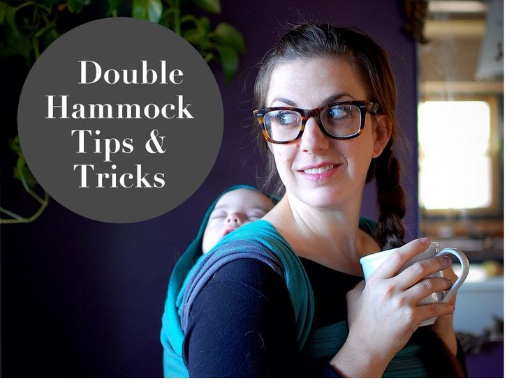 Double Hammock Back Carry Babywearing Tutorial