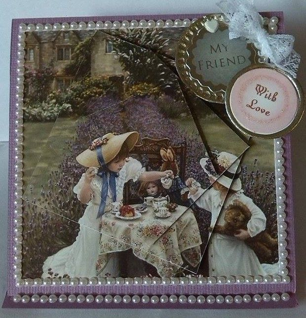 3D 'My Friend, with Love' Easel Card